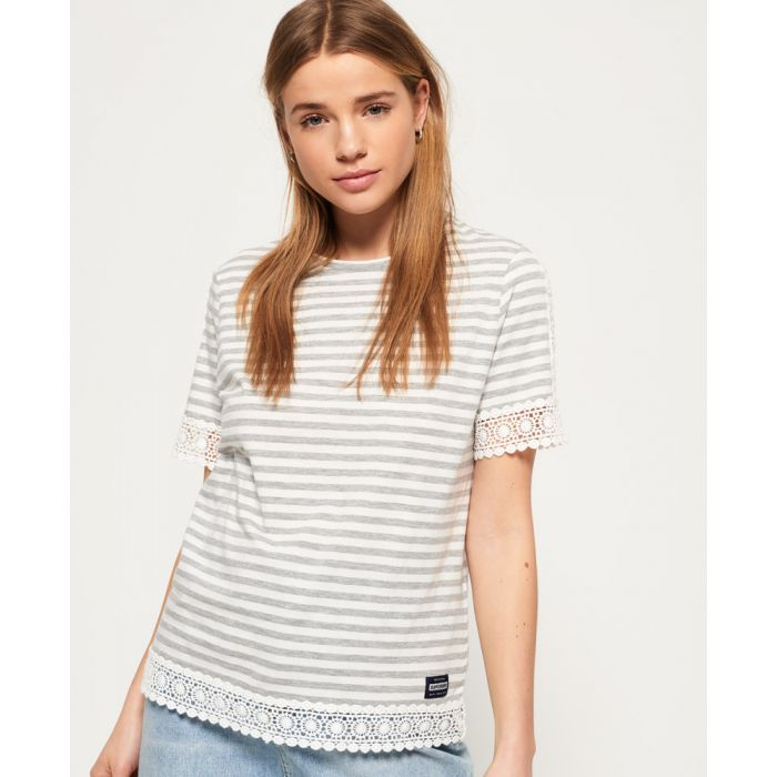 Image for Superdry Pacific Lace Panelled Top
