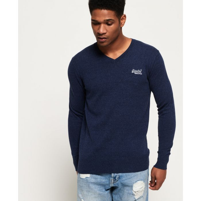 Image for Superdry Orange Label Vee Neck Jumper