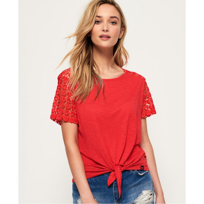 Image for Superdry San Juan Lace Sleeve T-Shirt