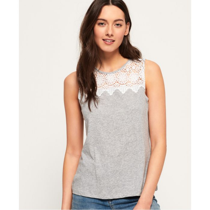 Image for Superdry Island Lace Tank Top