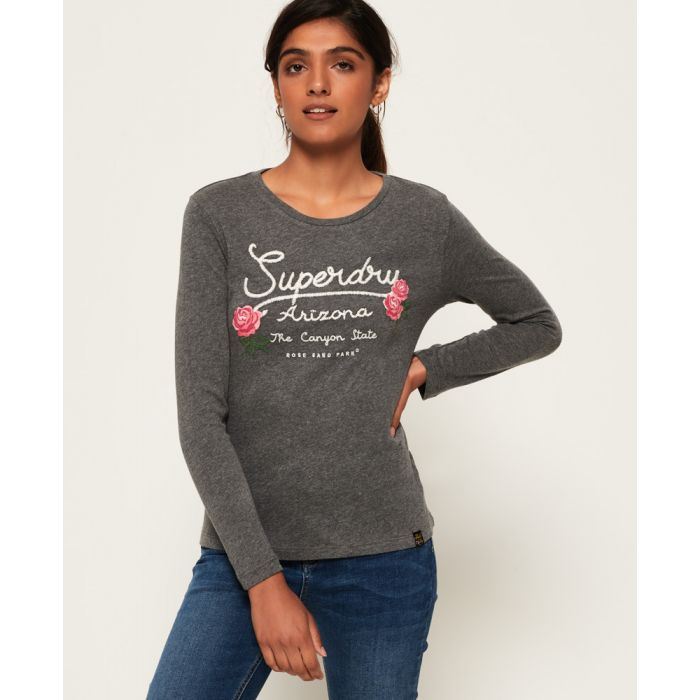 Image for Superdry Callie Embroidered Top