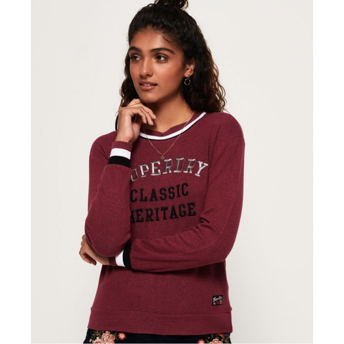 Image for Superdry Aria Applique Top