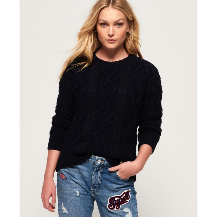 Image for Superdry Clara Lace Knit Jumper