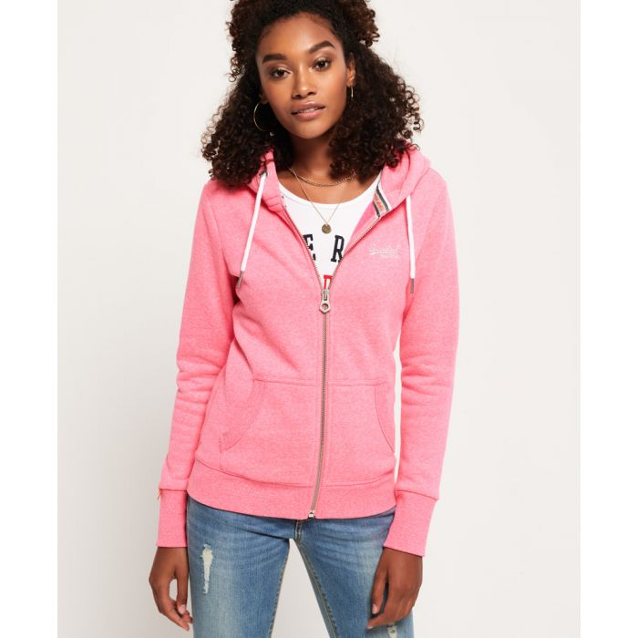 Image for Superdry Orange Label Zip Hoodie