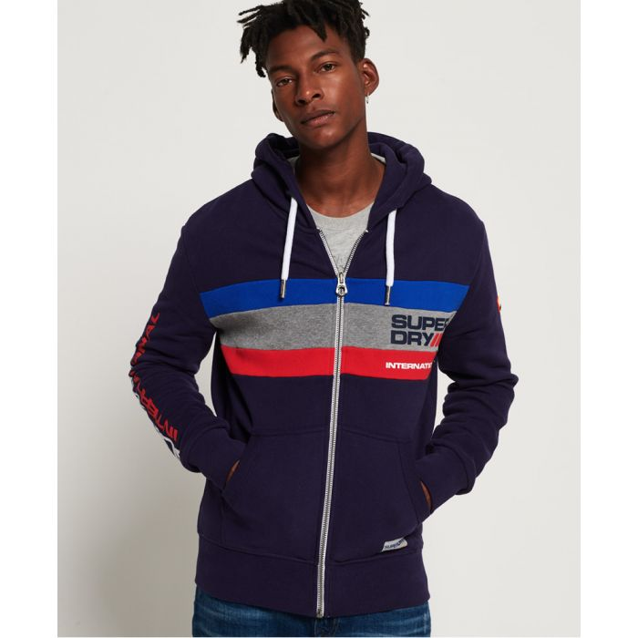 Image for Superdry Trophy Tri Colour Zip Hoodie