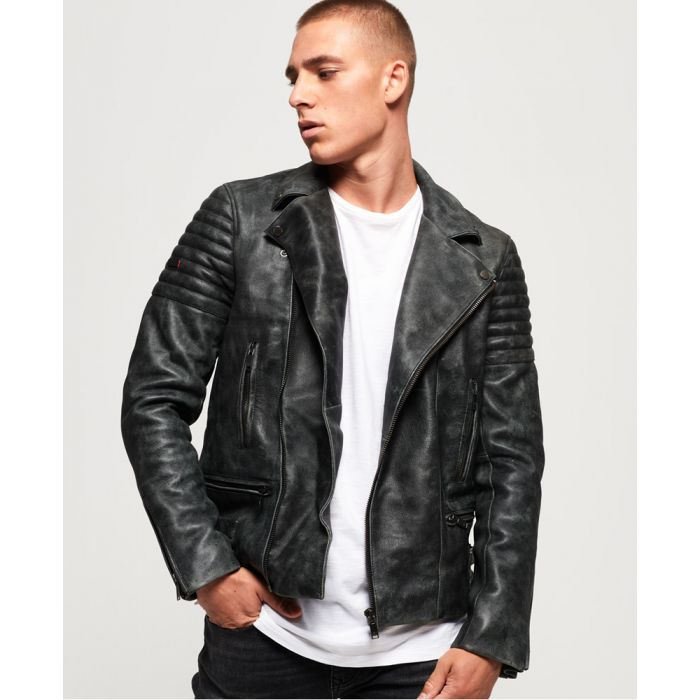 Image for Superdry Premium Classic Leather Jacket
