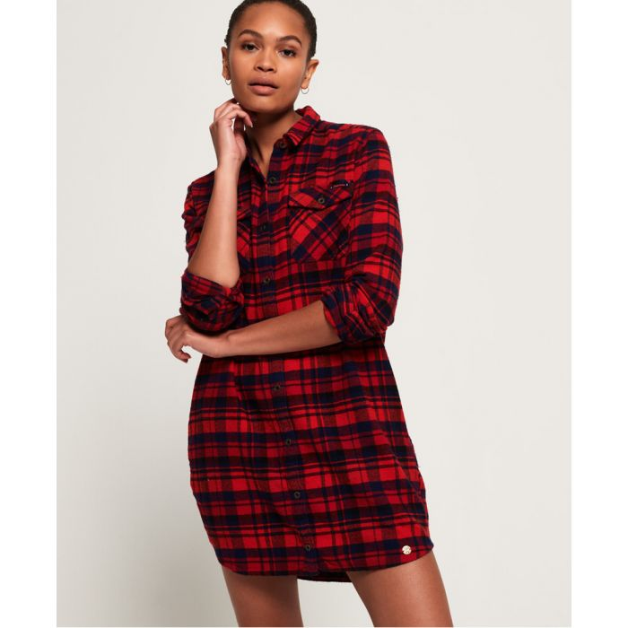 Image for Superdry Willow Check Shirt Dress