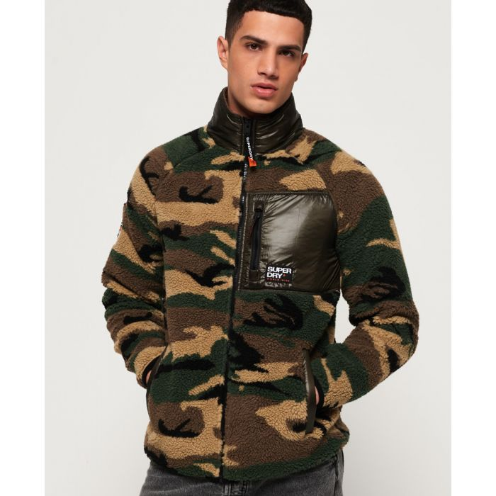 Image for Superdry Mountain Sherpa Camo Track Top