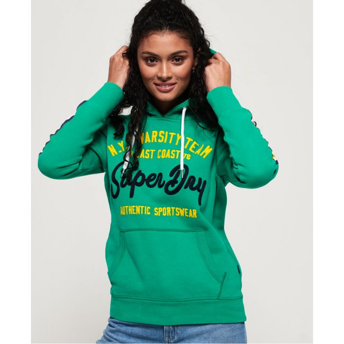 Image for Superdry NYC Varsity Embroidery Hoodie