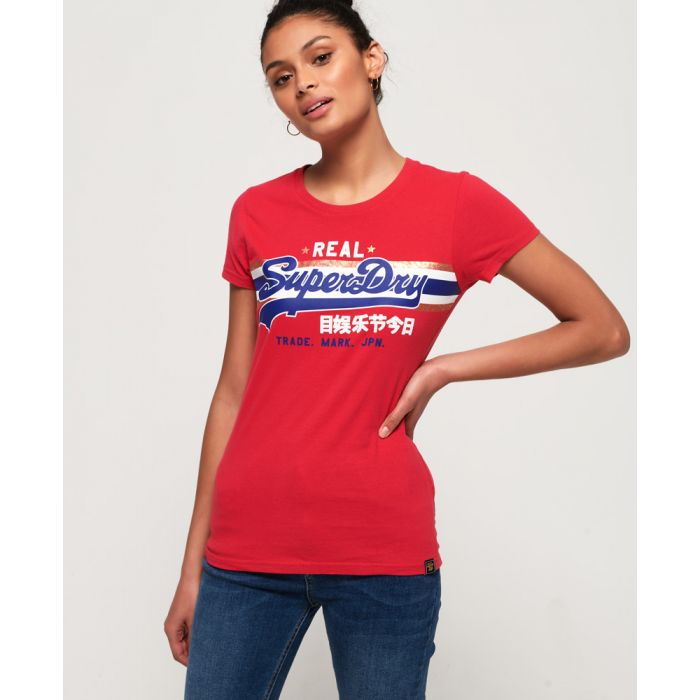 Image for Superdry Vintage Logo Foil Stripe T-Shirt