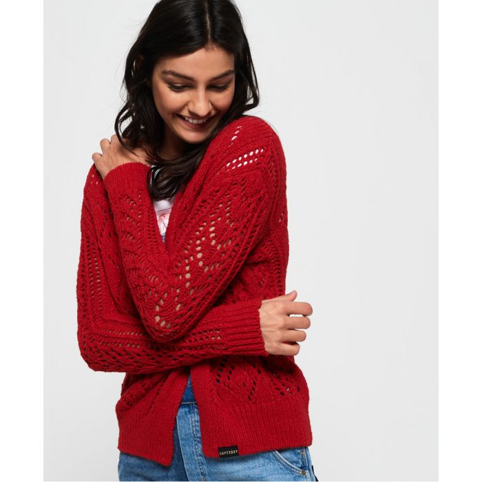 Image for Superdry Amira Textured Pointelle Cardigan
