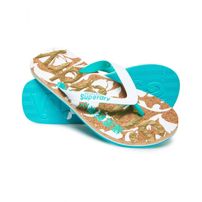 Image for Superdry Printed Cork Flip Flops