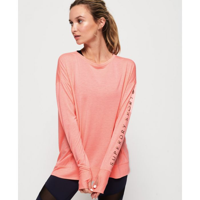 Image for Superdry Active Studio Luxe Long Sleeve Top