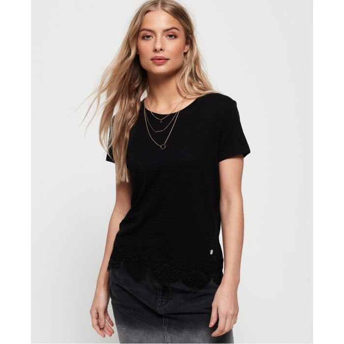 Image for Superdry Morocco Lace Hem T-Shirt