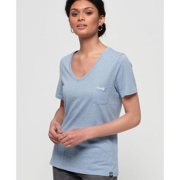 Image for Superdry Orange Label Essential Vee Neck T-Shirt