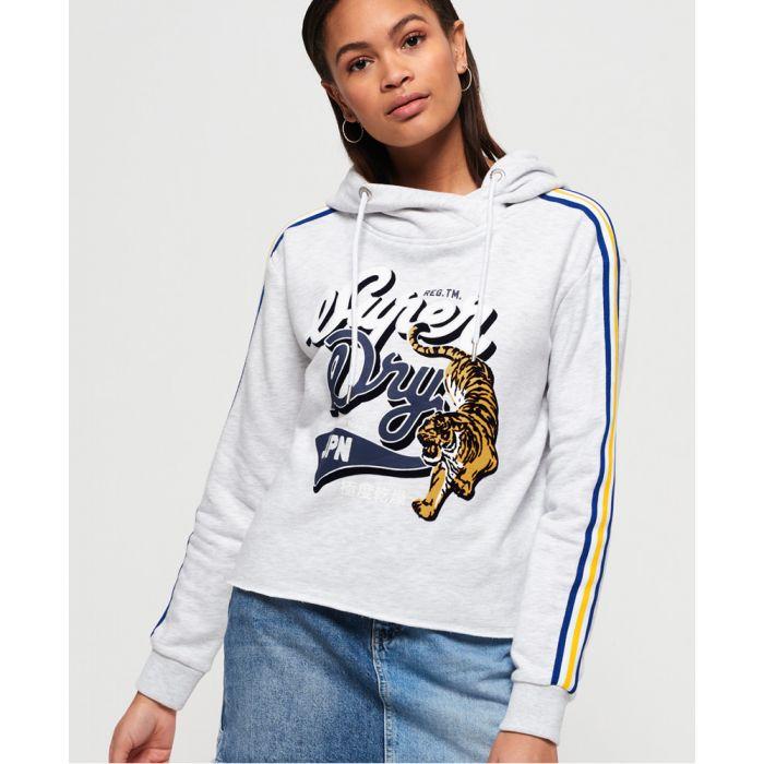 Image for Superdry True Japan Tiger College Crop Hoodie