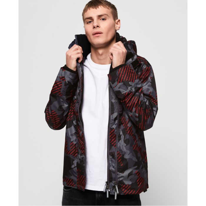 Image for Superdry Tech Hooded Print Pop Zip SD-Windcheater Jacket