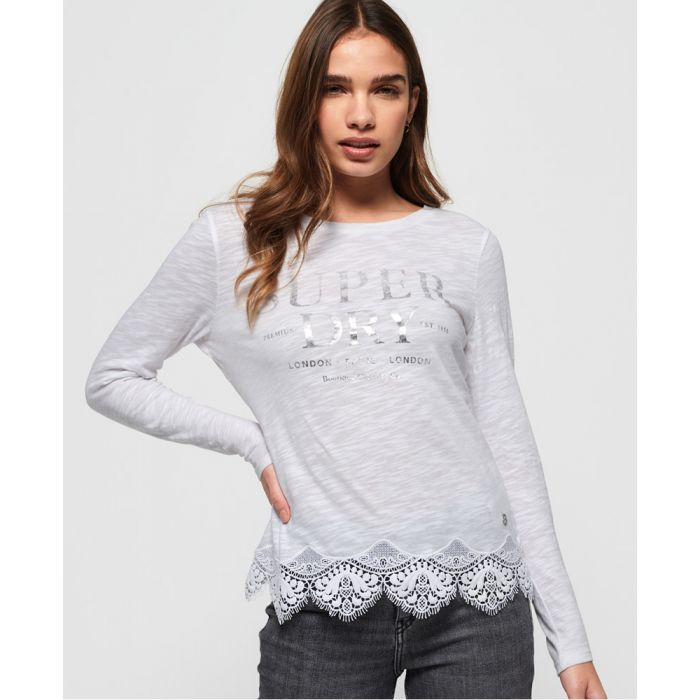 Image for Superdry Annabeth Lace Top