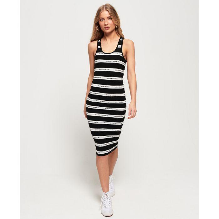 Image for Superdry Mila Stripe Midi Dress