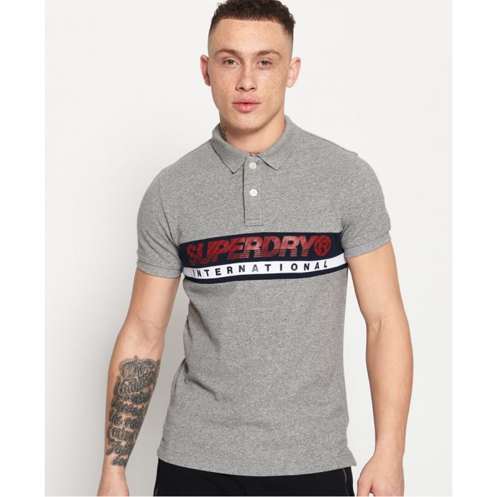 Image for Superdry International Chest Band Polo Shirt