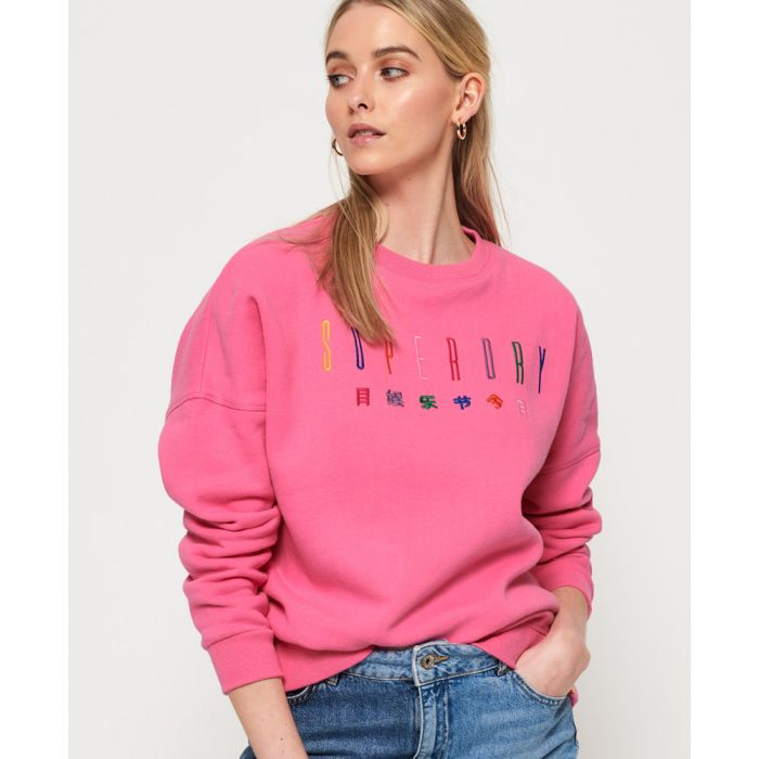 Image for Superdry Carly Carnival Embroidered Crew Sweatshirt