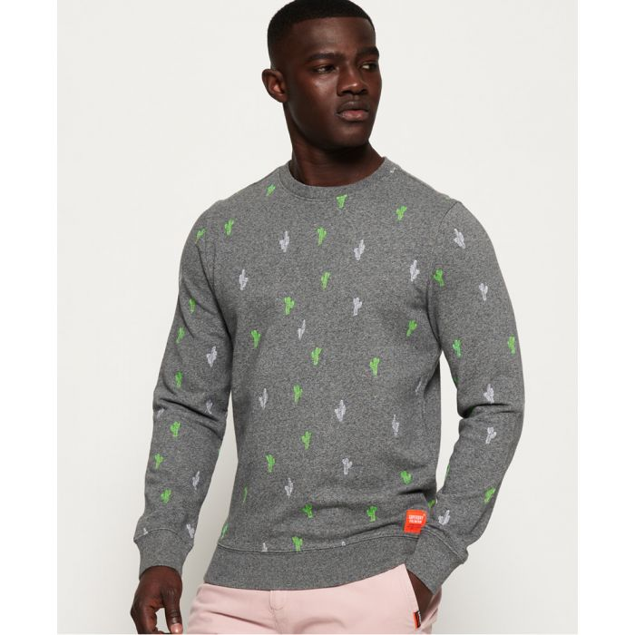 Image for Superdry All Over Embroidered Crew Sweatshirt