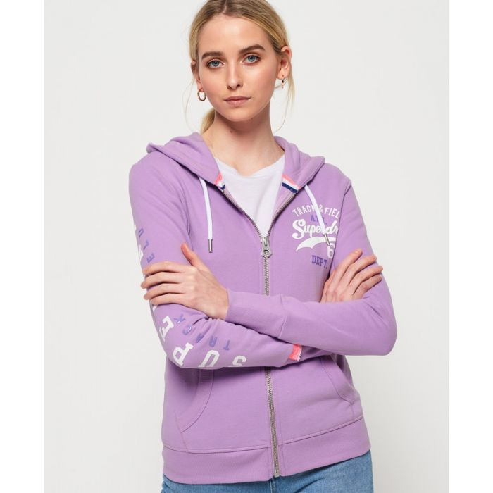 Image for Superdry Track And Field Lightweight Zip Hoodie