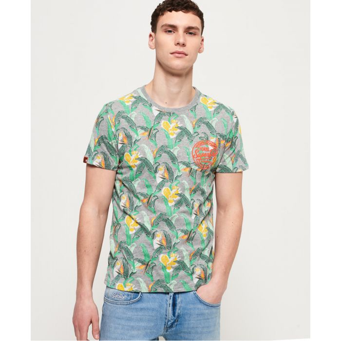 Image for Superdry All Over Print Ticket Type Pocket Lite T-Shirt
