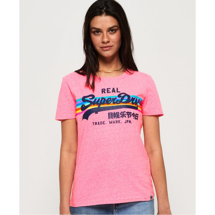 Image for Superdry Vintage Logo Retro Rainbow T-Shirt
