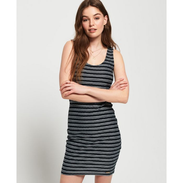 Image for Superdry Sienna Chevron Textured Mini Dress