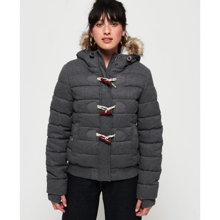 Image for Superdry Marl Toggle Puffle Jacket