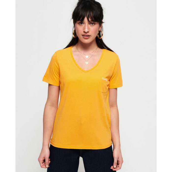 Image for Superdry Orange Label Essential Vee T-Shirt