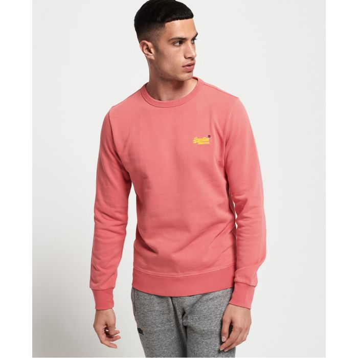 Image for Superdry Orange Label Pastel Line Crew Sweatshirt