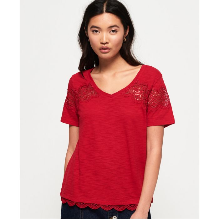 Image for Superdry Lizzie Lace Insert T-shirt