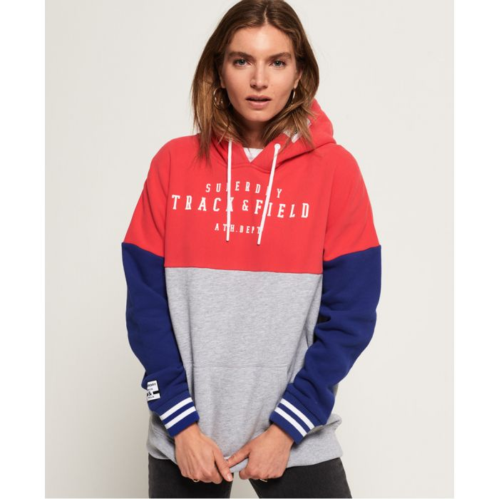 Image for Superdry Track & Field Colour Block Hoodie