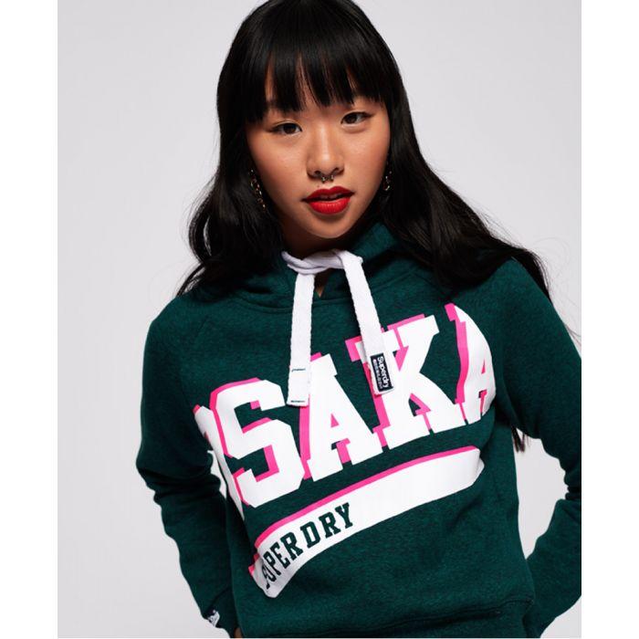 Image for Superdry Osaka Swoosh Sport Crop Hoodie