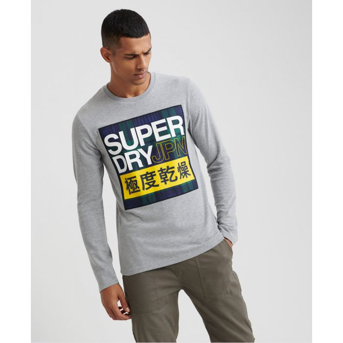 Image for Superdry Crafted Check Long Sleeved T-Shirt