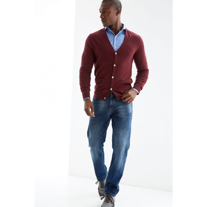 Image for Bordeaux wool blend cardigan