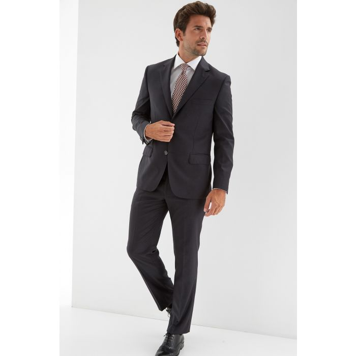 Image for Mens grey pure wool regular classic suit
