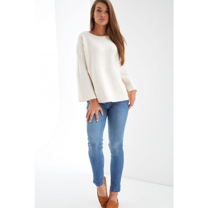 Image for Womens beige scoop neckline jumper