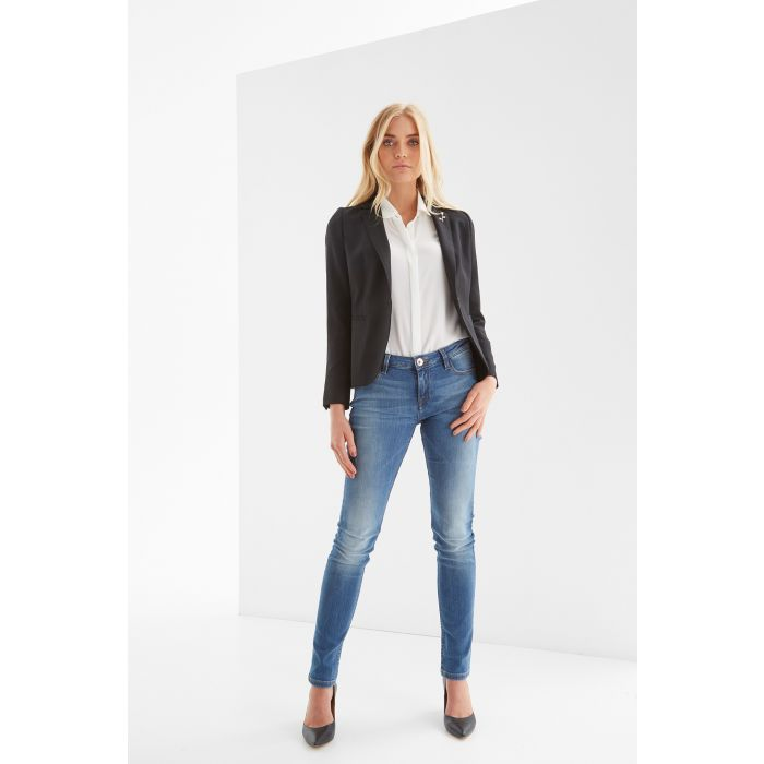 Image for Womens black slim classic blazer