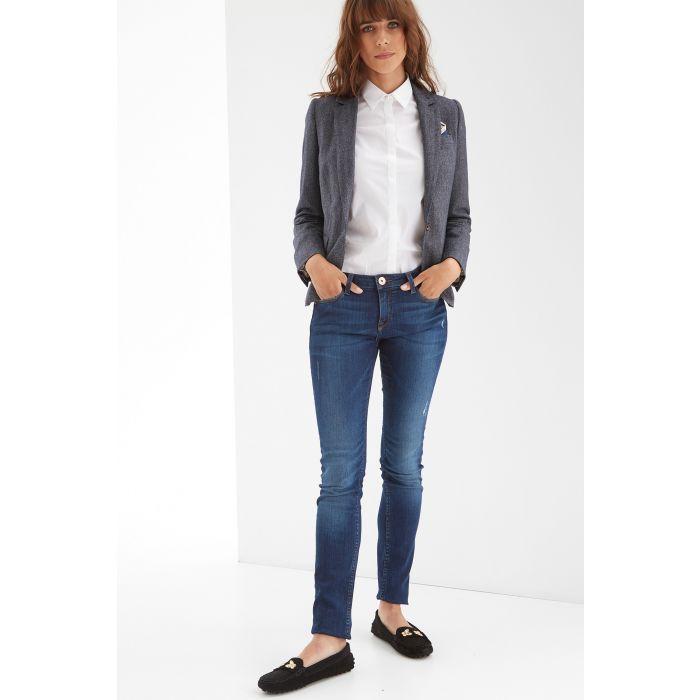 Image for Womens blue herringbone classic blazer