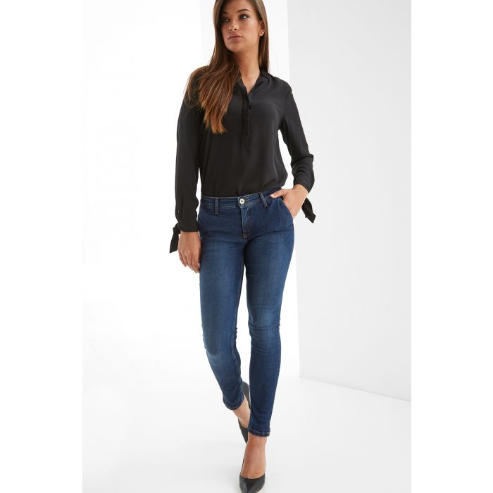 Image for Womens blue slim chino jeans