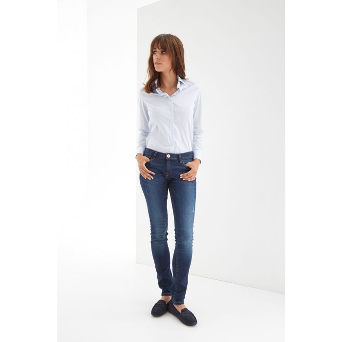 Image for Womens blue low-rise waist jeans