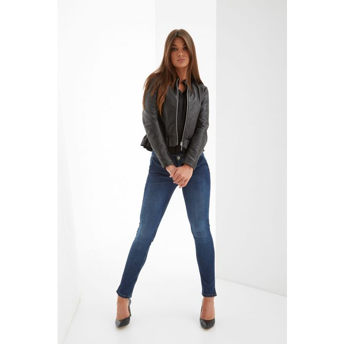 Image for Womens black leather jacket