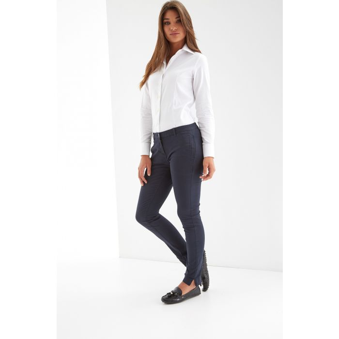 Image for Womens blue slim chino trousers
