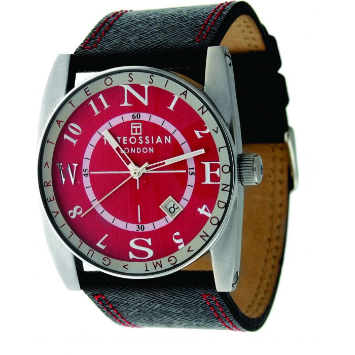 Image for Stain Steel Leather Red Round Gulliver Sports Watch