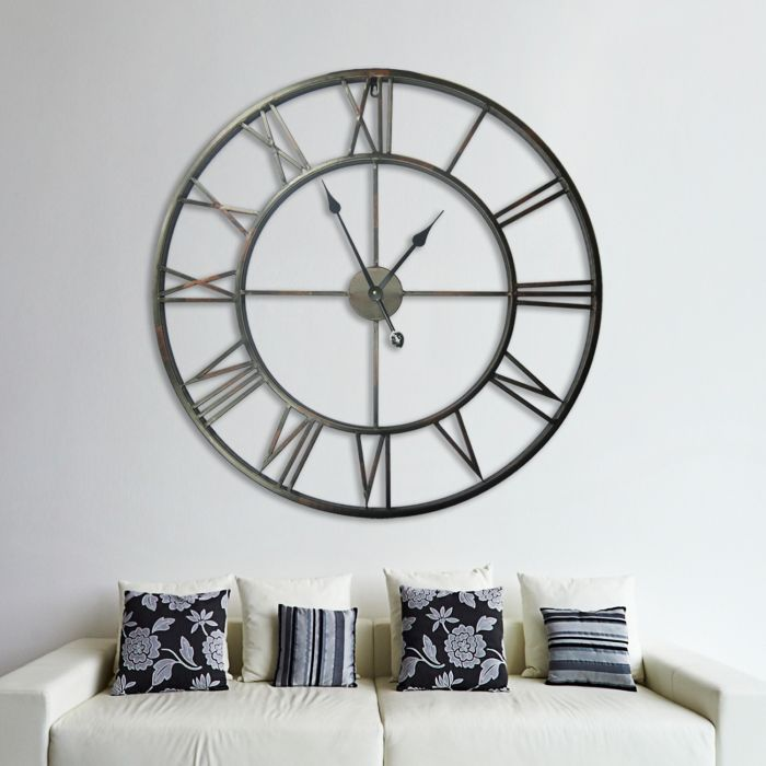 Image for Walplus Wall Clock Giant Iron Clock Home Decor 100cm Diameter Wide