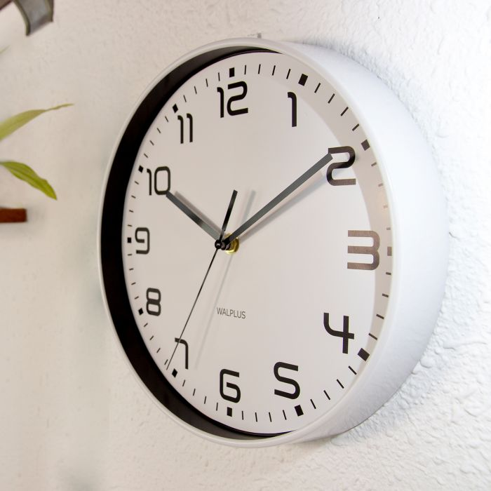 Image for Walplus ChicTime White 25cm Wall Clock Silent Movement Home