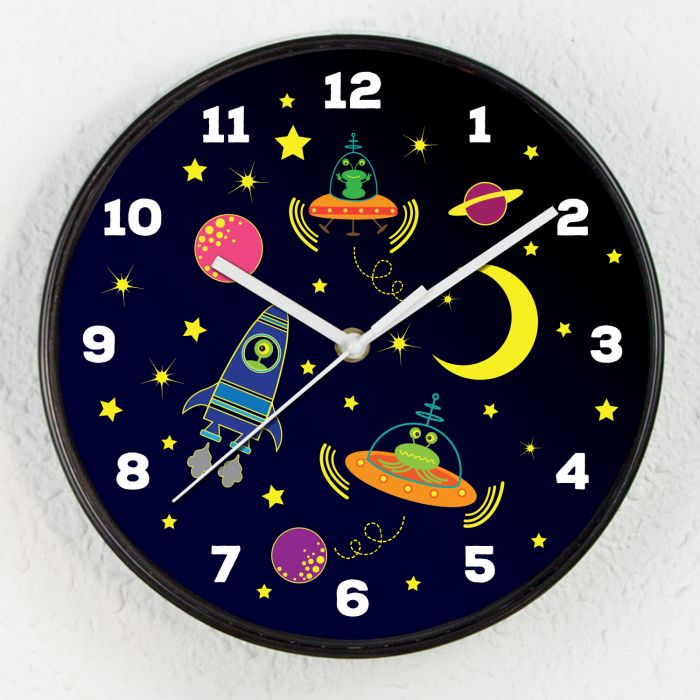 Image for Baby Boys Room Happy Galaxy Children Clock